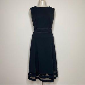 Liz Claiborne Formal Black Sheer Inset Dress